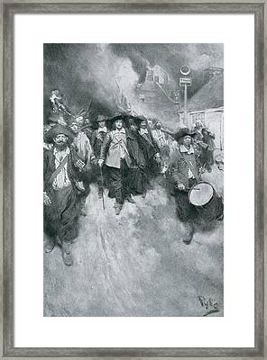 The Burning Of Jamestown, 1676, Illustration From Colonies And Nation By Woodrow Wilson, Pub Framed Print