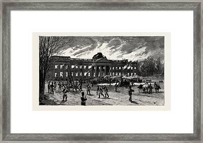 The Burning Of Laeken Castle, Brussels, The Residence Framed Print