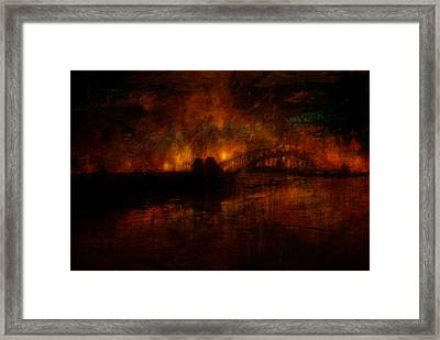 The Burning Of Sydney Framed Print