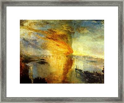 The Burning Of The Houses Of Lords And Commons Framed Print by Celestial Images