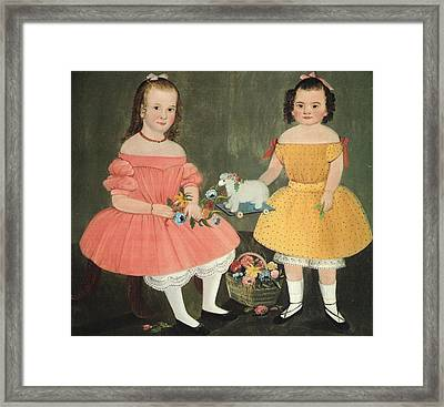 The Burnish Sisters Framed Print by William M Prior