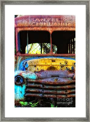 The Bus Stops Here Framed Print