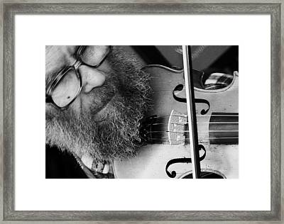 The Busker Framed Print by Stephen Norris