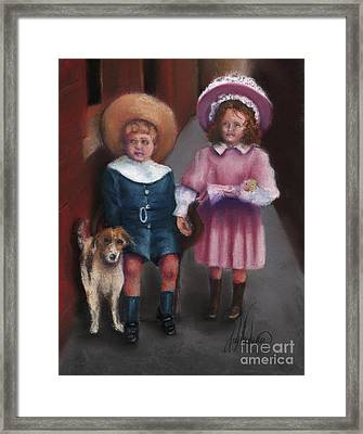 The Buster Browns Framed Print by Leah Wiedemer