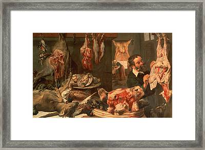 The Butcher's Shop Framed Print by Frans Snyders
