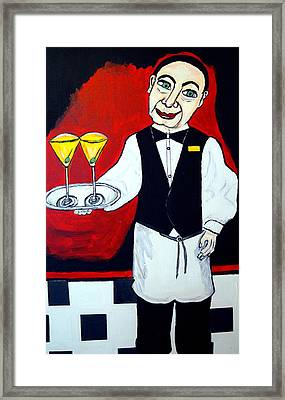 Framed Print featuring the painting The Butler  by Nora Shepley