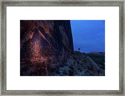 The Butler Wash Petroglyph Panel Framed Print