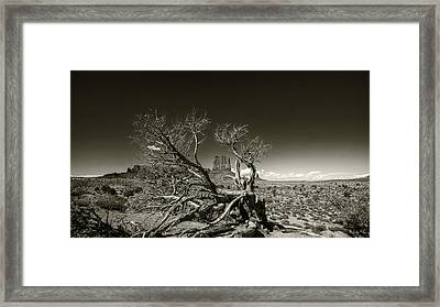 The Butte Framed Print by Stellina Giannitsi
