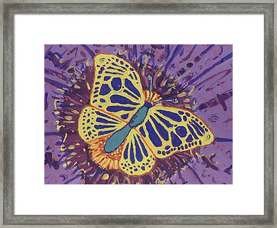 Framed Print featuring the painting The Butterfly Conspiracy by Yshua The Painter
