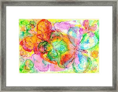The Butterfly Dance Framed Print