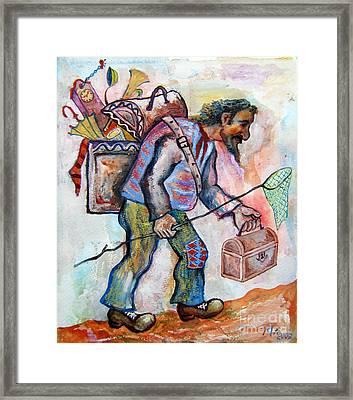 The Butterfly Hunter Framed Print by Milen Litchkov