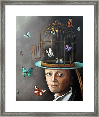 The Butterfly Keeper 1 Framed Print by Leah Saulnier The Painting Maniac