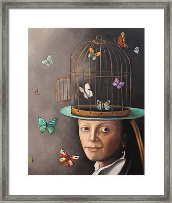 The Butterfly Keeper Edit 2 Framed Print by Leah Saulnier The Painting Maniac