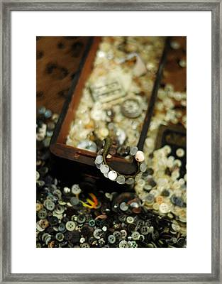 The Button Drawer Framed Print by Rebecca Sherman