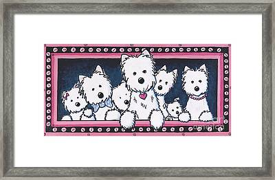 The Button Nose Gang Framed Print by Kim Niles