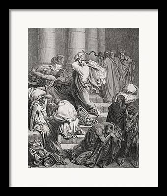 Money Changers Framed Prints