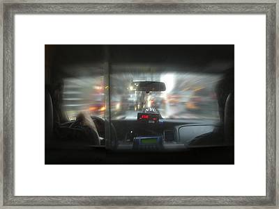 The Cab Ride Framed Print by Mike McGlothlen