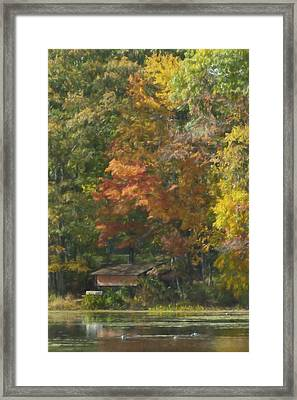 The Cabin At Cherry Brook Framed Print by Jean-Pierre Ducondi