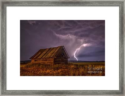 The Cabin Framed Print by Darcy Shawchek