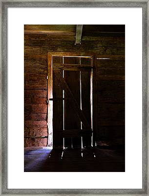 The Cabin Door Framed Print by David Lee Thompson
