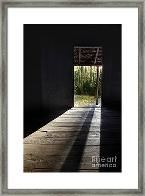 Who Left The Door Open Framed Print by Michael Eingle
