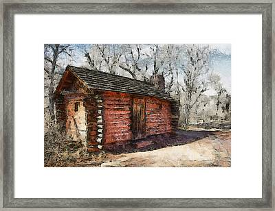 The Cabin Framed Print by Ernie Echols