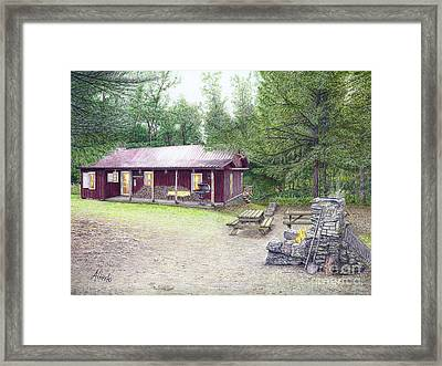 The Cabin In The Woods Framed Print by Albert Puskaric