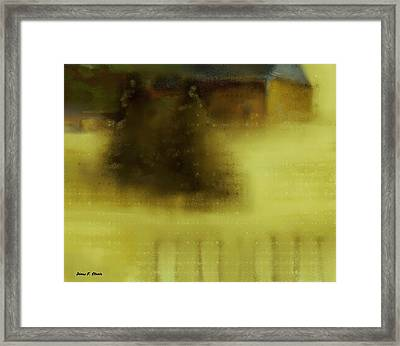 The Cabin In The Woods  B- 2 Framed Print by Diane Strain