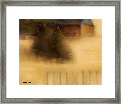 The Cabin In The Woods  B-1 Framed Print by Diane Strain