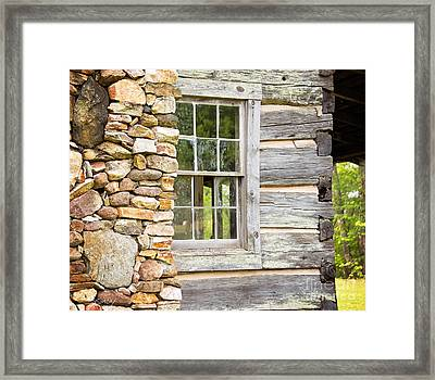 The Cabin Window Framed Print