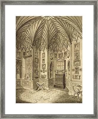 The Cabinet, Engraved By T. Morris Framed Print by English School