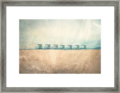 Venice Cabins Framed Print