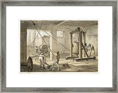 The Cable Is Brought To  Greenwich Framed Print by Mary Evans Picture Library