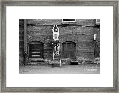 The Cable Man  Framed Print