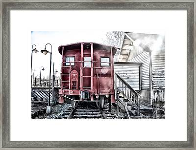 The Caboose Framed Print by Bill Cannon