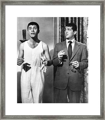 The Caddy, From Left Jerry Lewis, Dean Framed Print