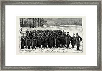 The Cadets In Winter -costume, British Naval Defences Framed Print by Litz Collection