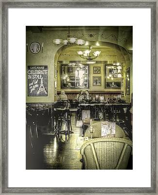 The Cafe Framed Print by Janet Meehan
