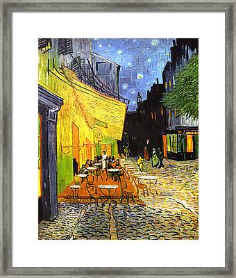 The Cafe Terrace On The Place Du Forum Framed Print by Vincent van Gogh