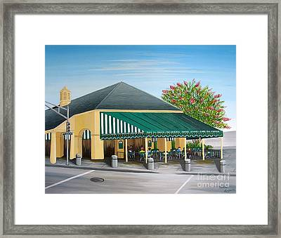 The Cafe Framed Print by Valerie Carpenter