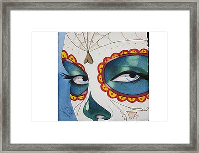 The Calavera Mask Framed Print