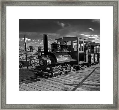 The Calico Express Framed Print by Gina Graves