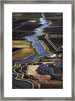 The California Delta Framed Print by Adrian Mendoza