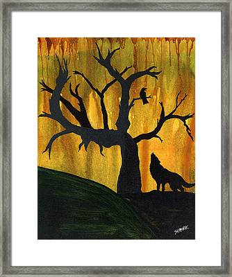 The Call And Response Of The Wild Framed Print by Jim Stark