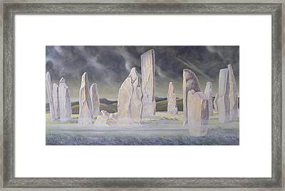 The Callanish Legend Isle Of Lewis Framed Print by Evangeline Dickson