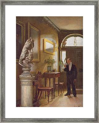 The Calling Card, 1889 Framed Print