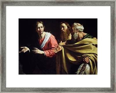 The Calling Of St. Peter And St. Andrew Framed Print