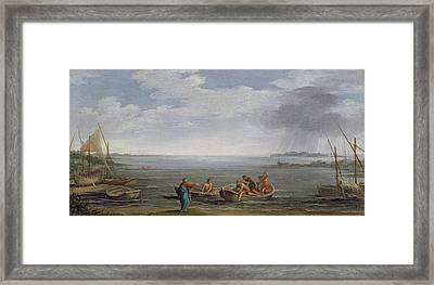 The Calling Of St. Peter And St Framed Print by Pietro da Cortona