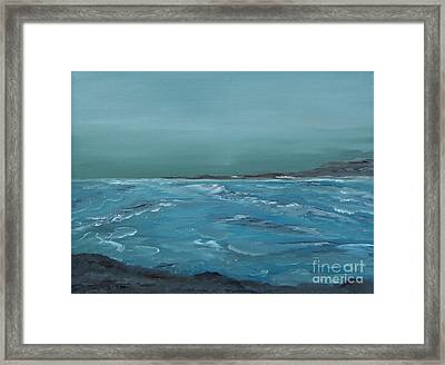 The Calm Before Framed Print by Geralyn Willingham