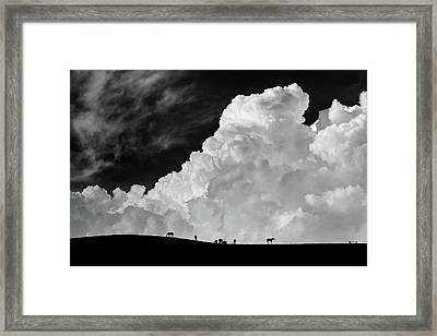 The Calm Before The Storm Framed Print by Gloria Salgado Gispert